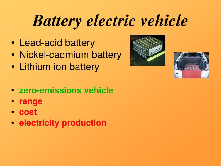 Battery electric vehicle