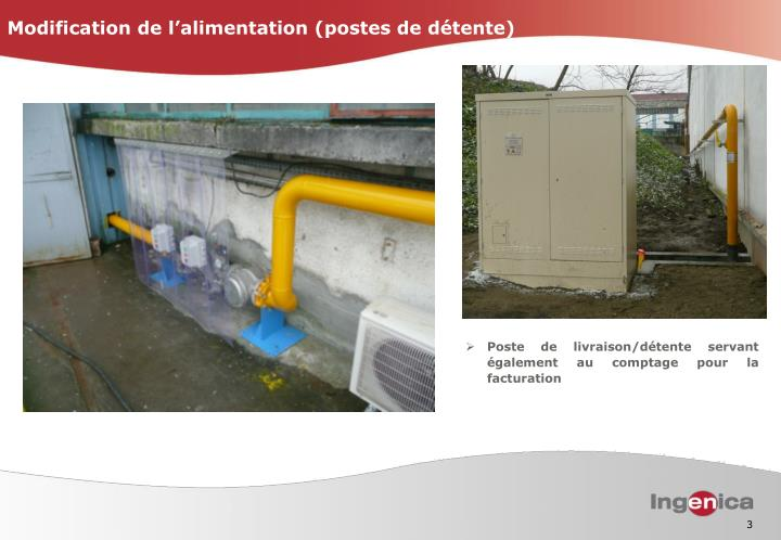 Modification de l alimentation postes de d tente