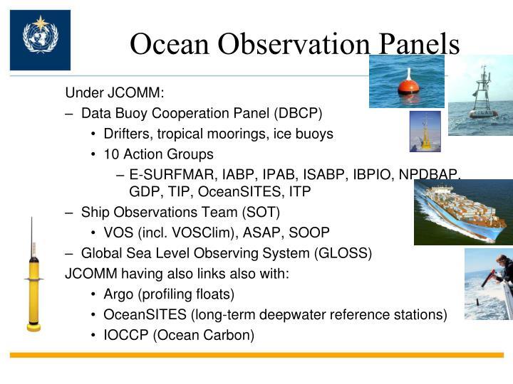 Ocean Observation Panels