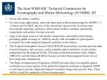 the joint wmo ioc technical commission for oceanography and marine meteorology jcomm iii