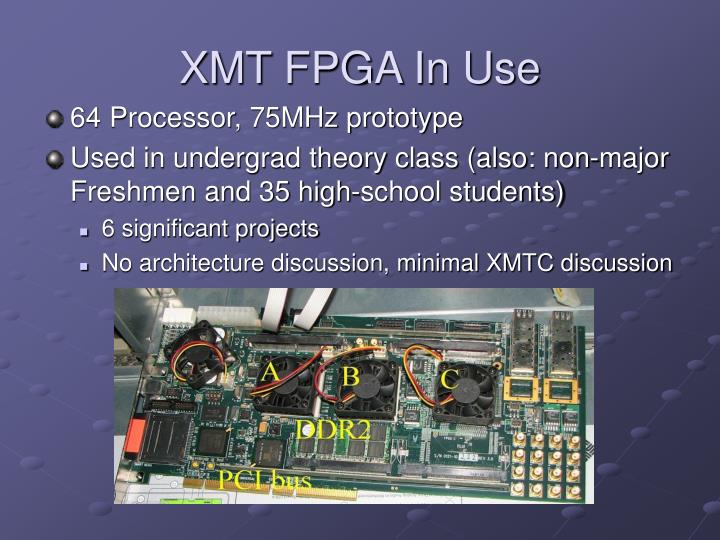 XMT FPGA In Use