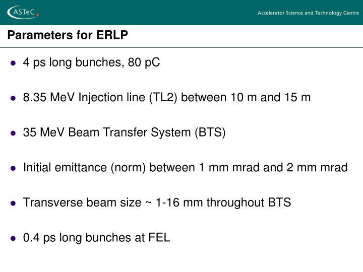 Parameters for ERLP
