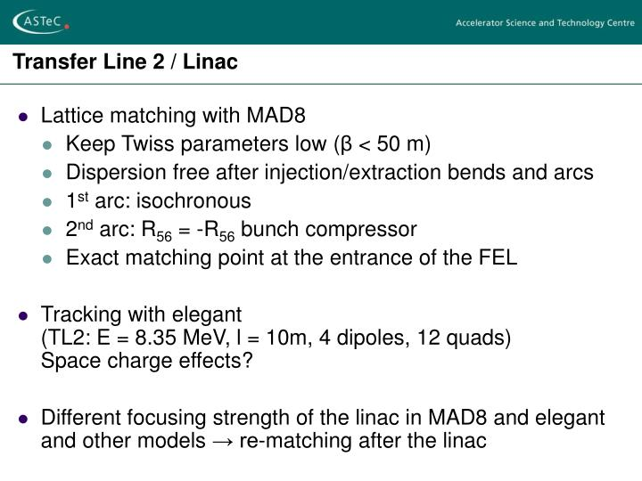 Transfer Line 2 / Linac