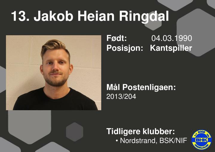 13. Jakob Heian Ringdal