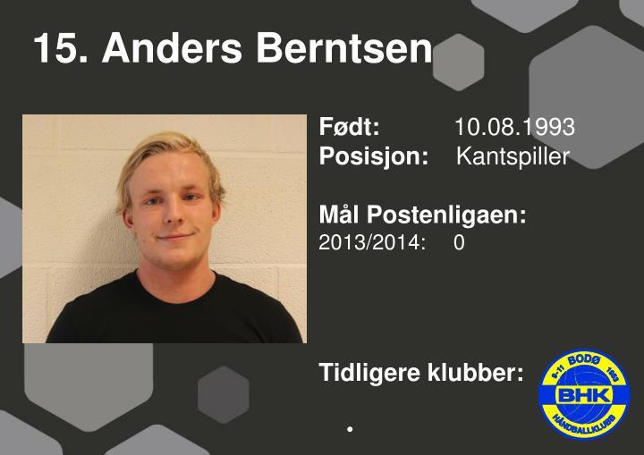 15. Anders Berntsen