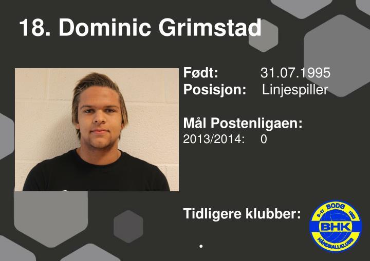 18. Dominic Grimstad