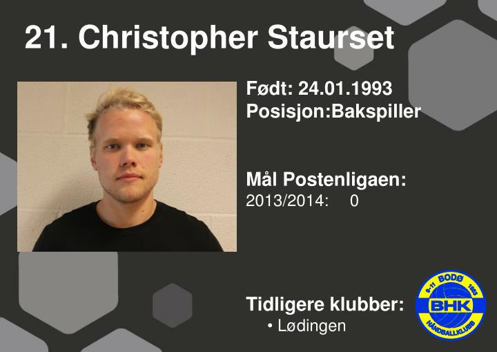 21. Christopher Staurset