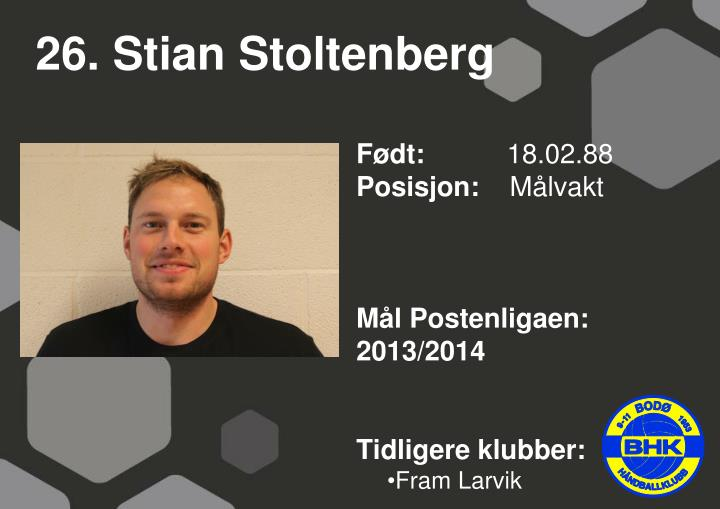 26. Stian Stoltenberg