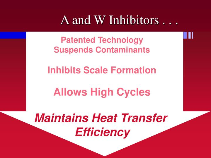 A and W Inhibitors . . .