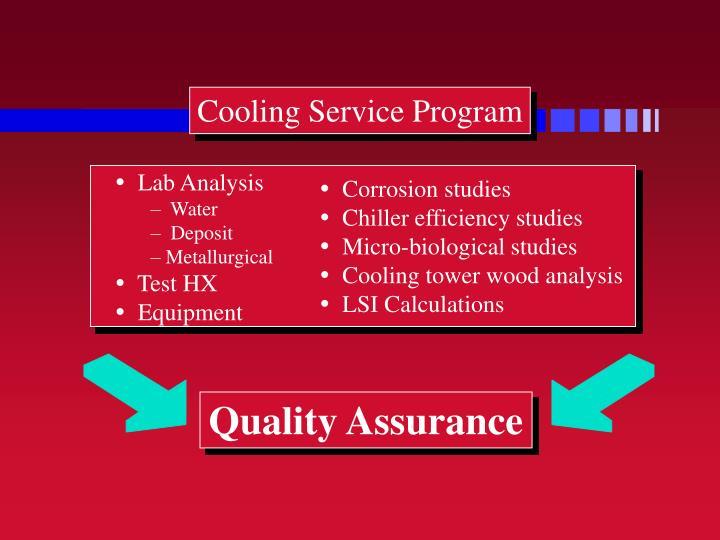 Cooling Service Program