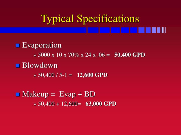 Typical Specifications