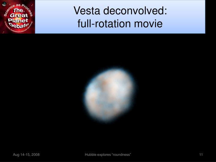 Vesta deconvolved: