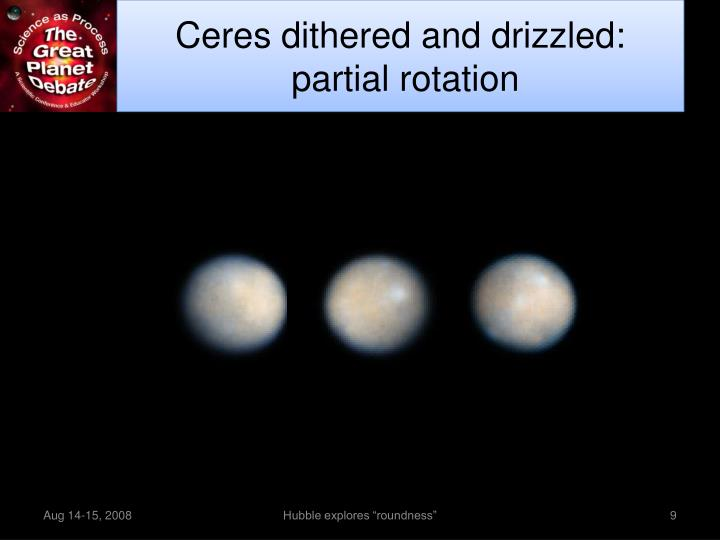 Ceres dithered and drizzled: