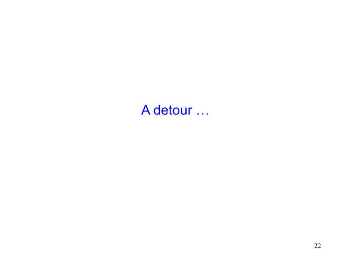 A detour …