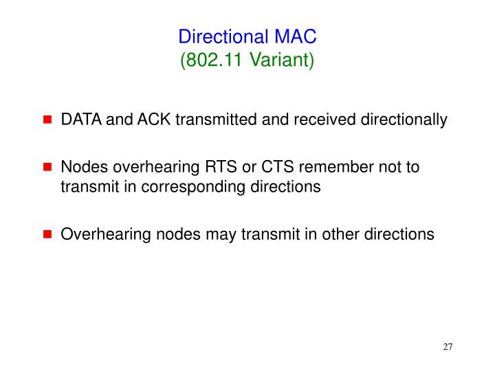 Directional MAC
