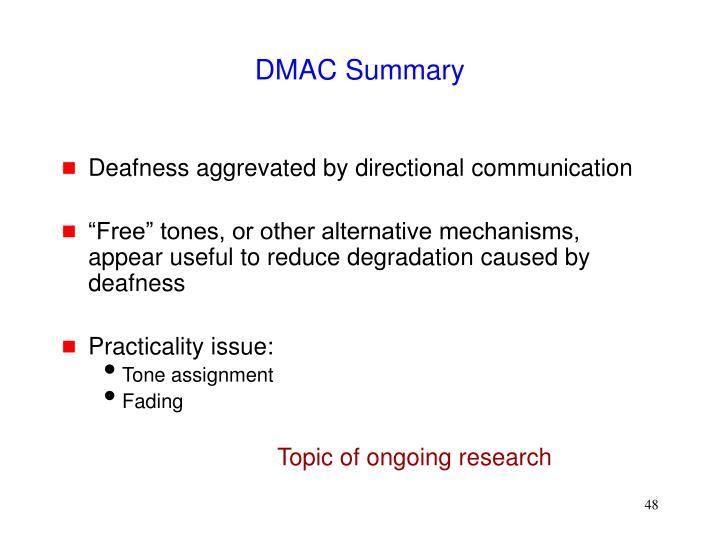 DMAC Summary