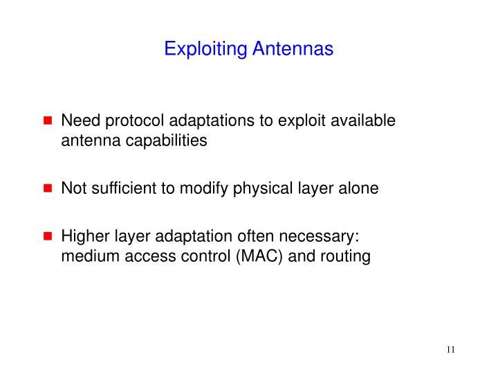 Exploiting Antennas