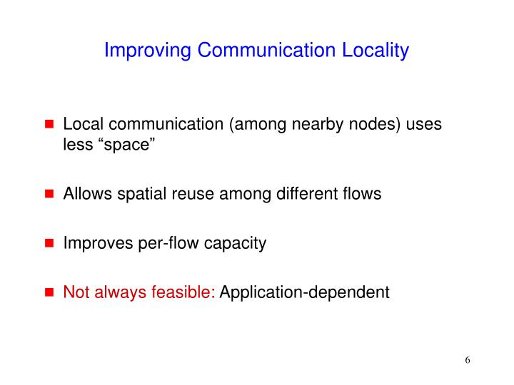 Improving Communication Locality