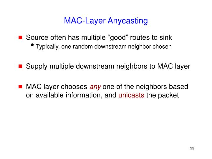 MAC-Layer Anycasting