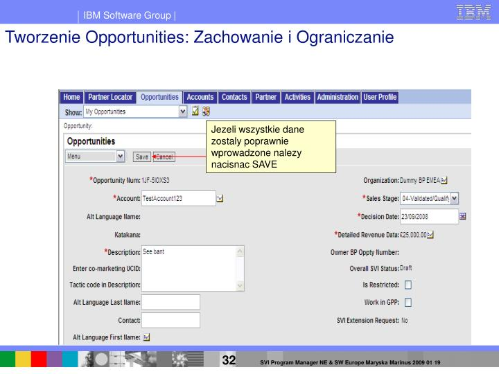 Tworzenie Opportunities: Zachowanie i Ograniczanie