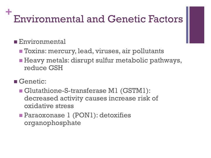 Environmental and Genetic Factors