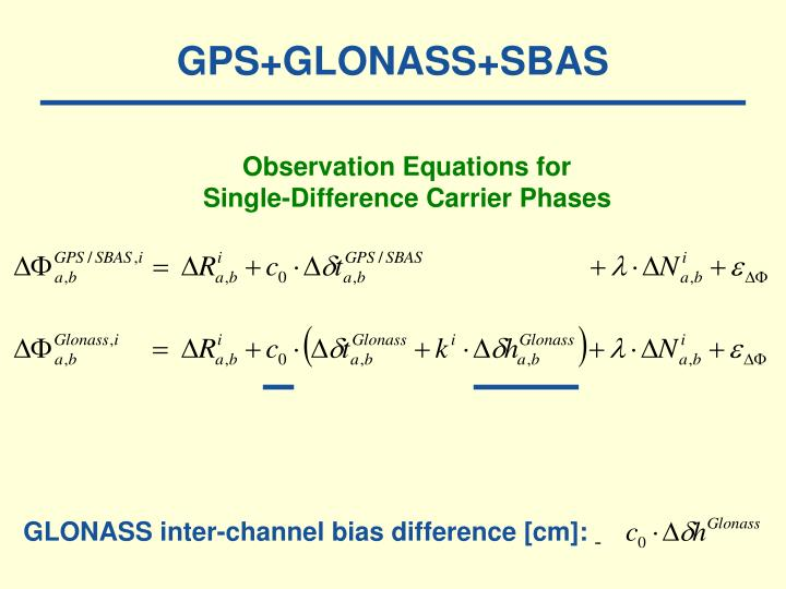 GPS+GLONASS+SBAS