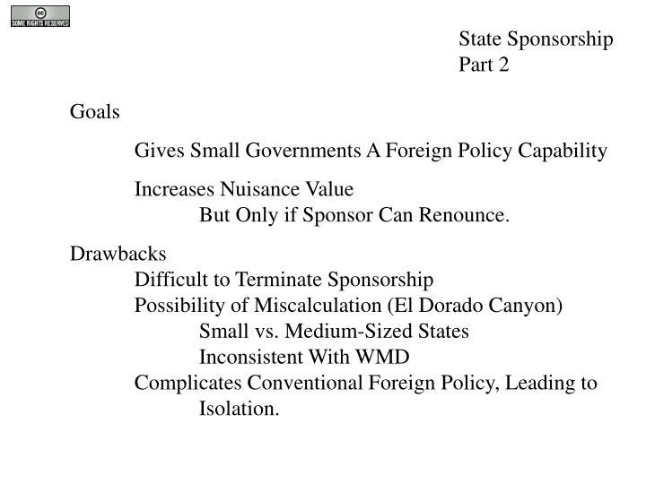 State Sponsorship