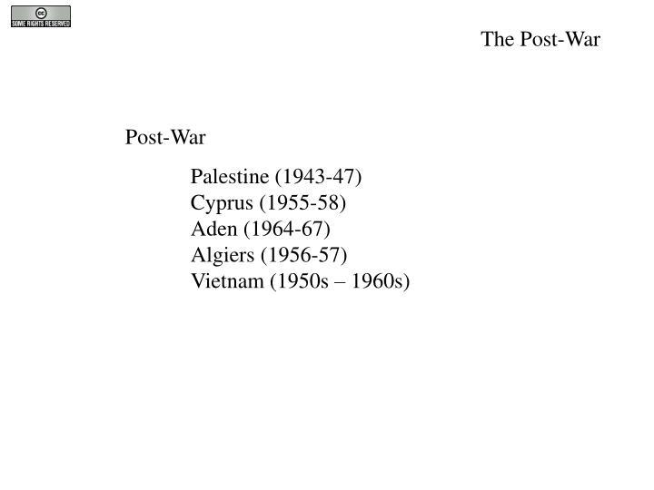 The Post-War