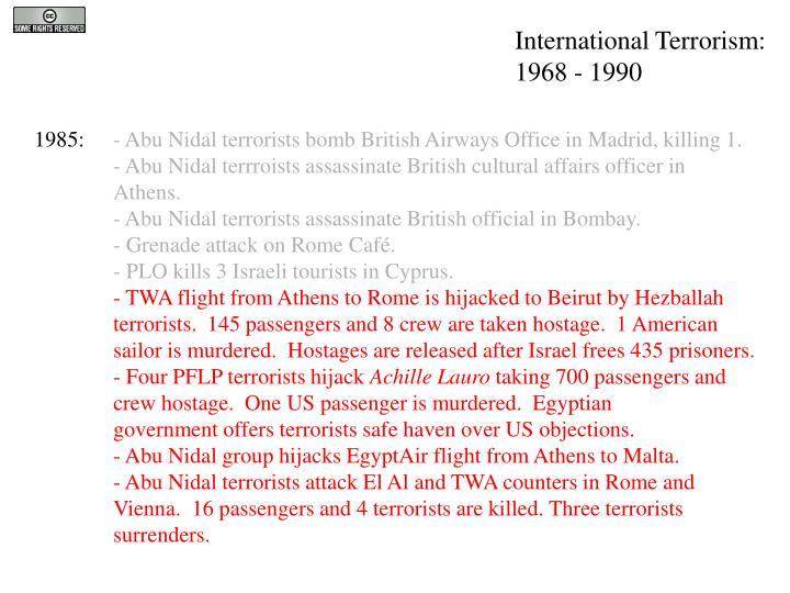 International Terrorism: