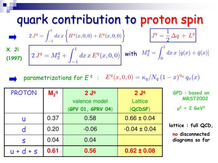 quark contribution to