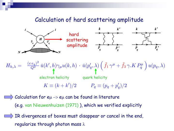 Calculation of hard scattering amplitude