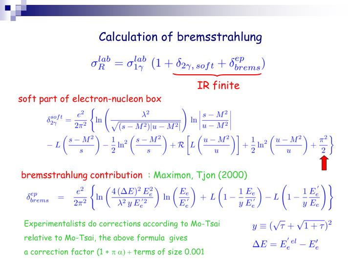 Calculation of bremsstrahlung