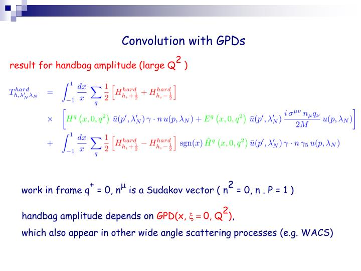 Convolution with GPDs