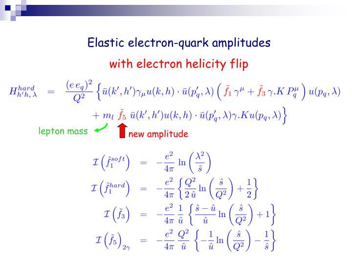 Elastic electron-quark amplitudes