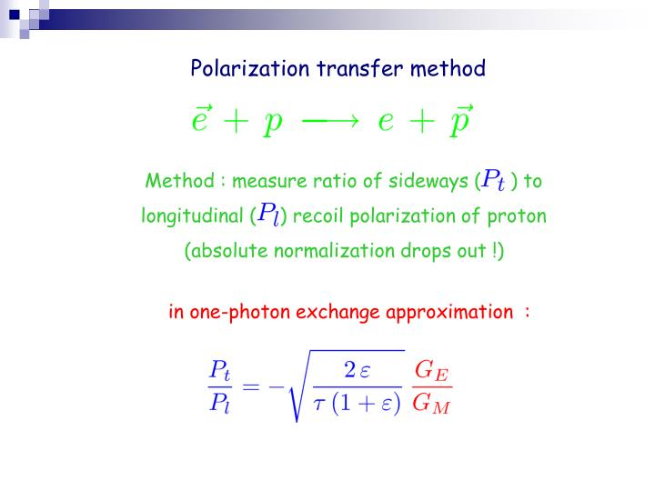 Polarization transfer method