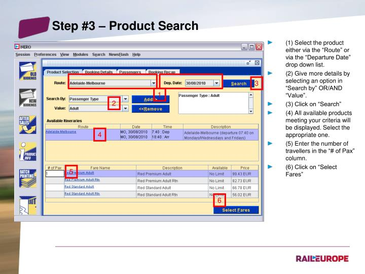 Step #3 – Product Search