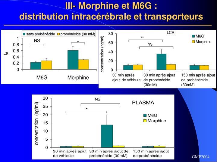 III- Morphine et M6G :