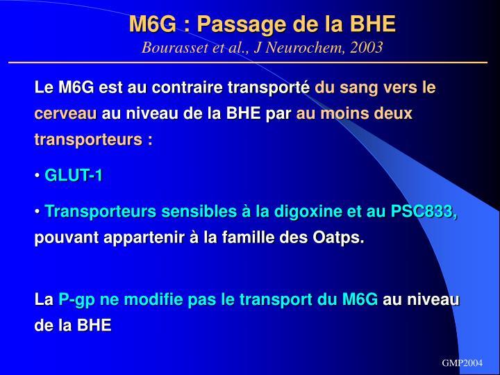 M6G : Passage de la BHE