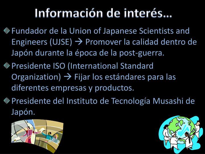 Información de interés…