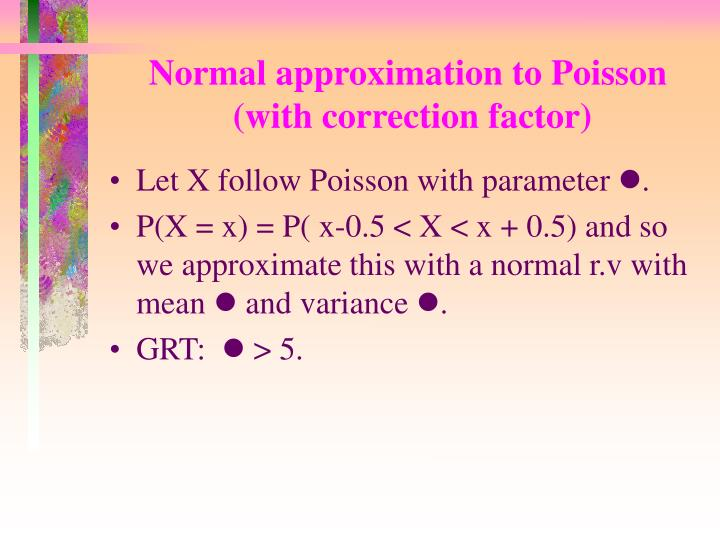 Normal approximation to Poisson