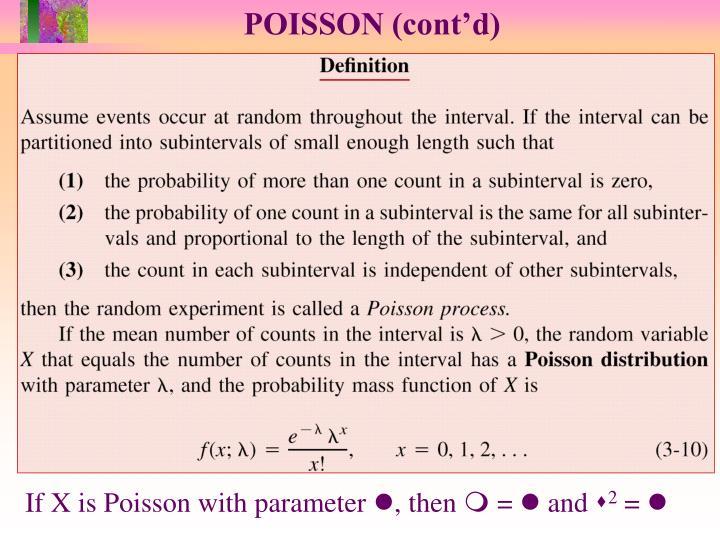 POISSON (cont'd)