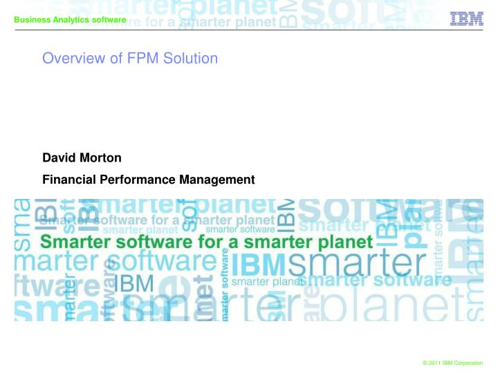 overview of fpm solution