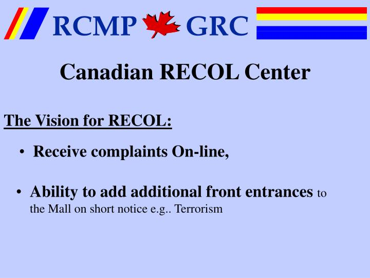 Canadian RECOL Center