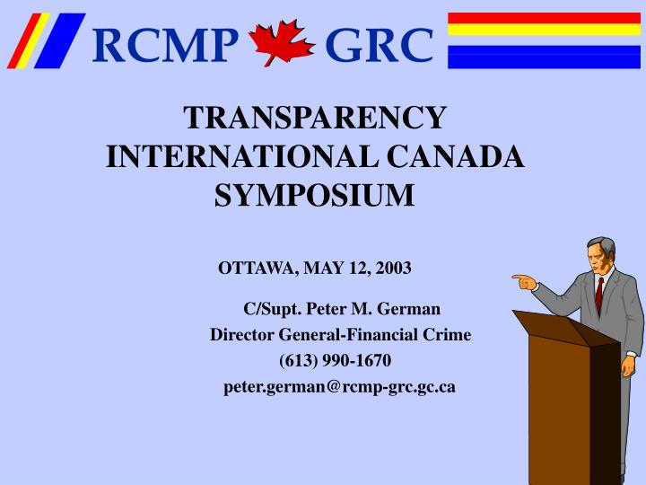 Transparency international canada symposium ottawa may 12 2003