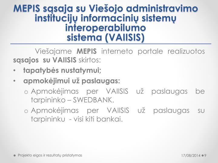 MEPIS sąsaja