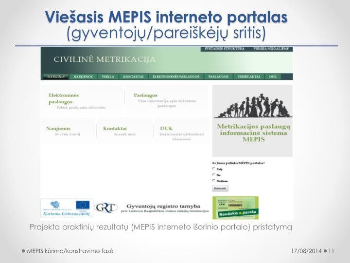 Viešasis MEPIS interneto portalas