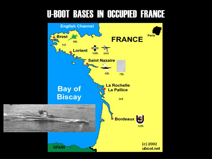 U-BOOT  BASES  IN  OCCUPIED  FRANCE