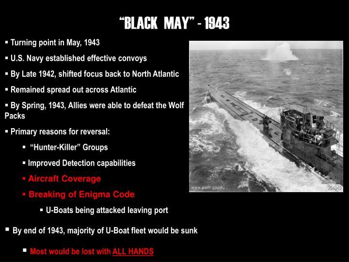 """""""BLACK  MAY"""" - 1943"""
