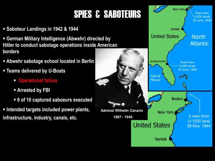 SPIES  &  SABOTEURS