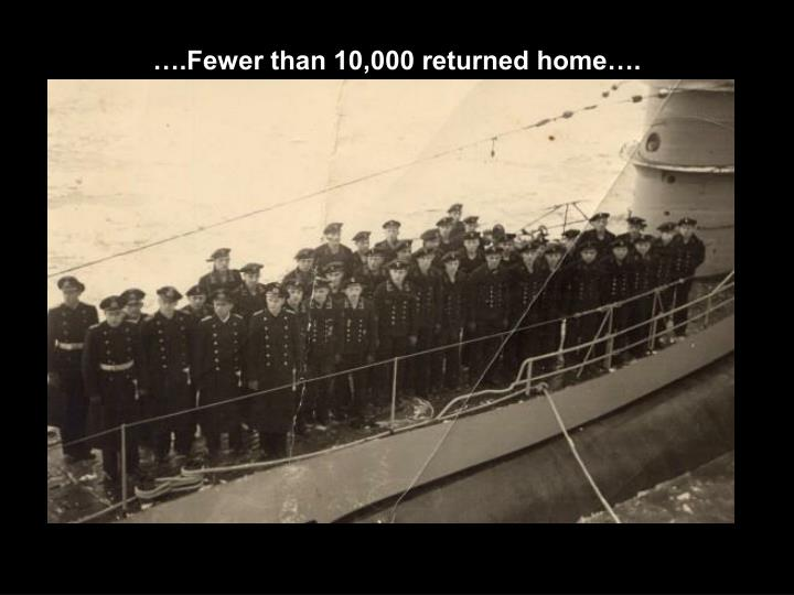 ….Fewer than 10,000 returned home….